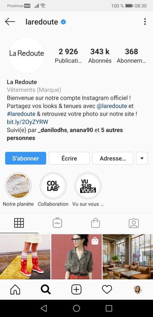 Hashtags La Redoute