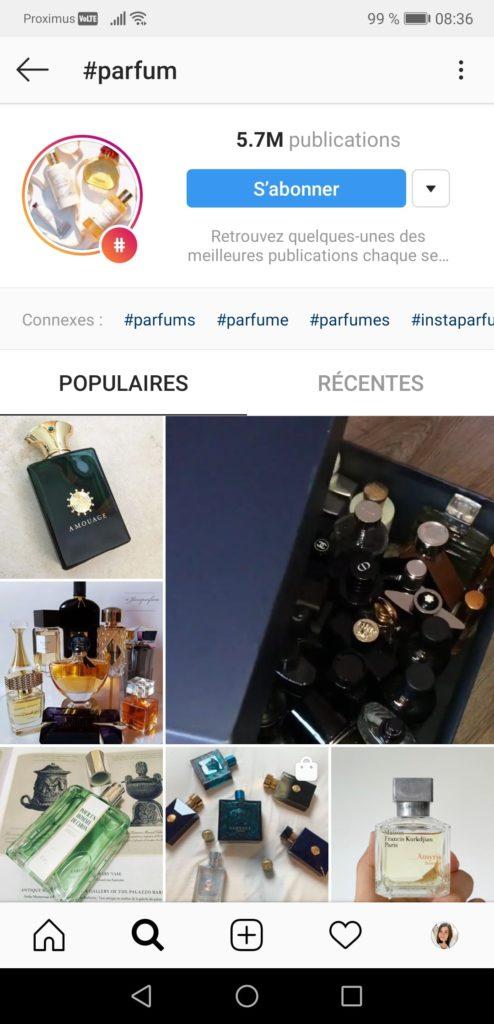Hashtags parfum