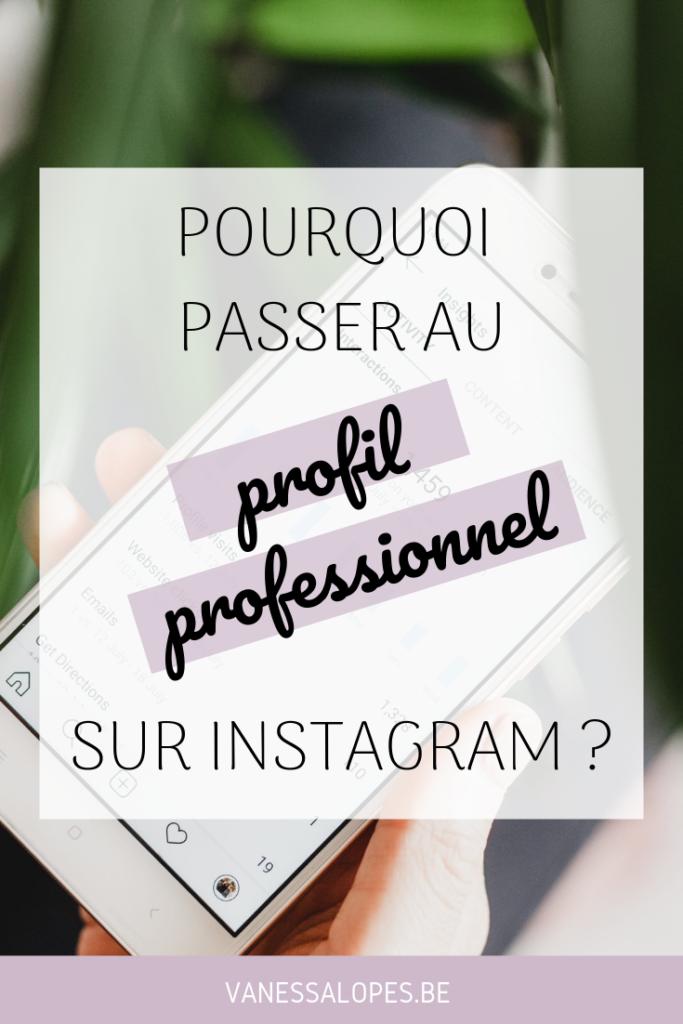 Pourquoi passer à un compte professionnel sur Instagram - Miniature Pinterest