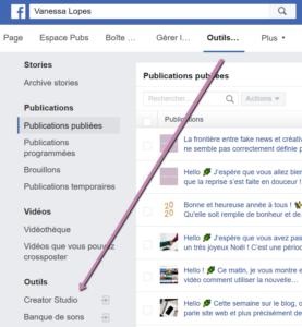 Comment accéder au Facebook creator studio depuis Facebook ?