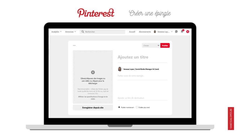 Booster son compte Pinterest - Créer une épingle