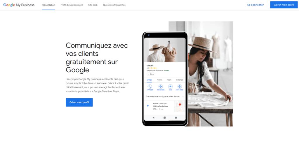 Google My Business - Gérer mon profil