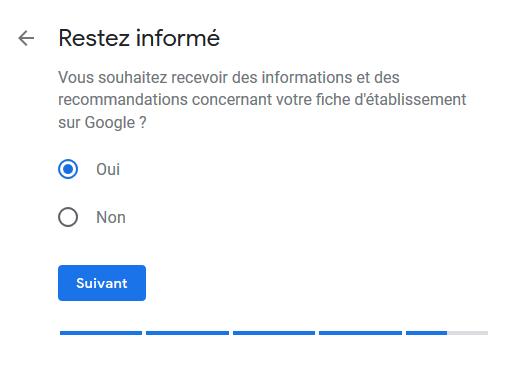 Google My Business - Recevoir des recommandations de Google