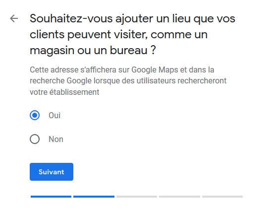 Google My Business - Adresse physique