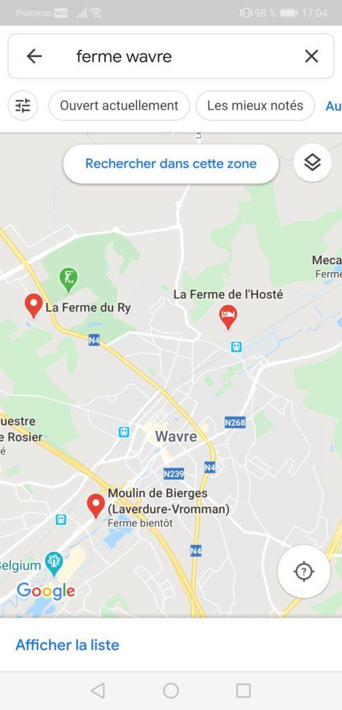 Fiches Google My Business dans Google Maps