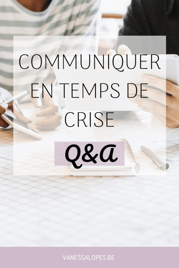 Communiquer en temps de crise - questions-réponses