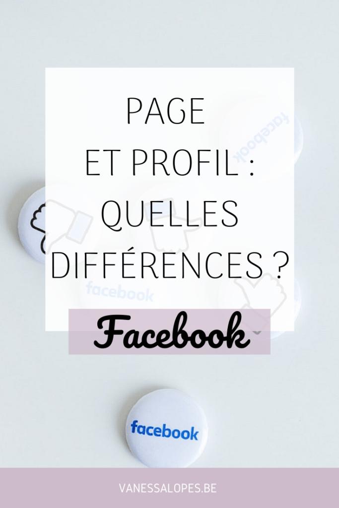 Epingle de l'article différence entre une page et un profil sur Facebook