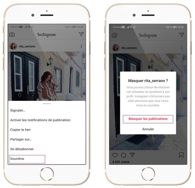 Comment mettre un compte en sourdine sur Instagram. Extrait de l'article 5 fonctionnalités Instagram que vous devriez connaitre rédigé par Vanessa Lopes