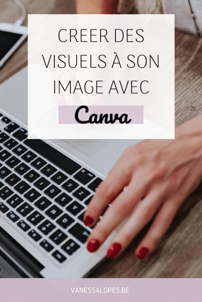 Epingle Pinterest de l'article de Vanessa Lopes nommé Créer des visuels à son image avec Canva