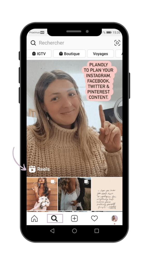 Vanessa Lopes - Instagram Reels - Onglet explorer